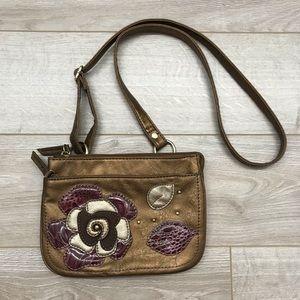 Relic | Metallic Floral Crossbody Bag